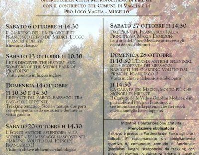 Visite guidate gratuite al Parco Mediceo di Pratolino