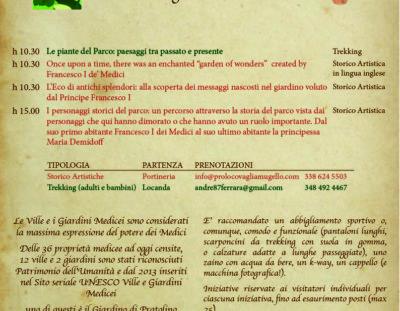 Parco Mediceo di Pratolino – Visite domenica 29 settembre – anche in inglese
